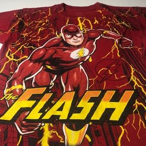 The Flash DC Comics Youth XXL T-Shirt Red Yellow